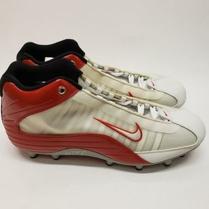 Nike Red White Gray Low Football Cleats 303812-161